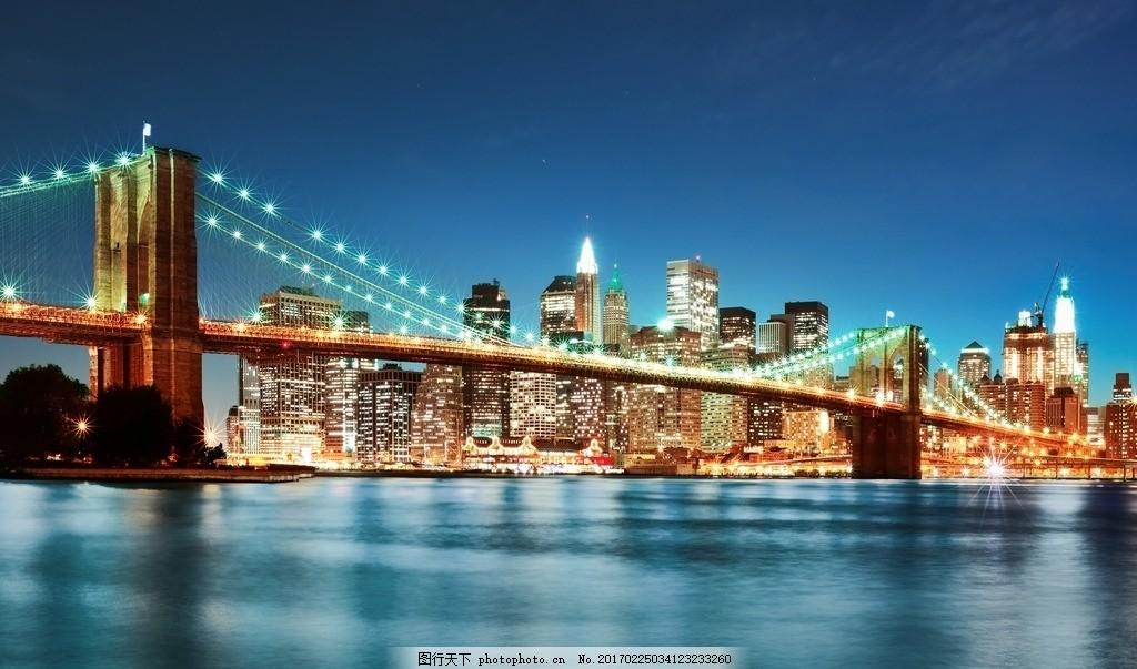 梦幻的斜拉桥 梦幻 斜拉桥 城市 夜景 水 摄影 自然景观 自然风景 72