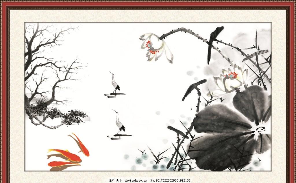 江南水乡 水彩 水彩画 场景画 水彩风景 艺术绘画 自然风光 中国风 山