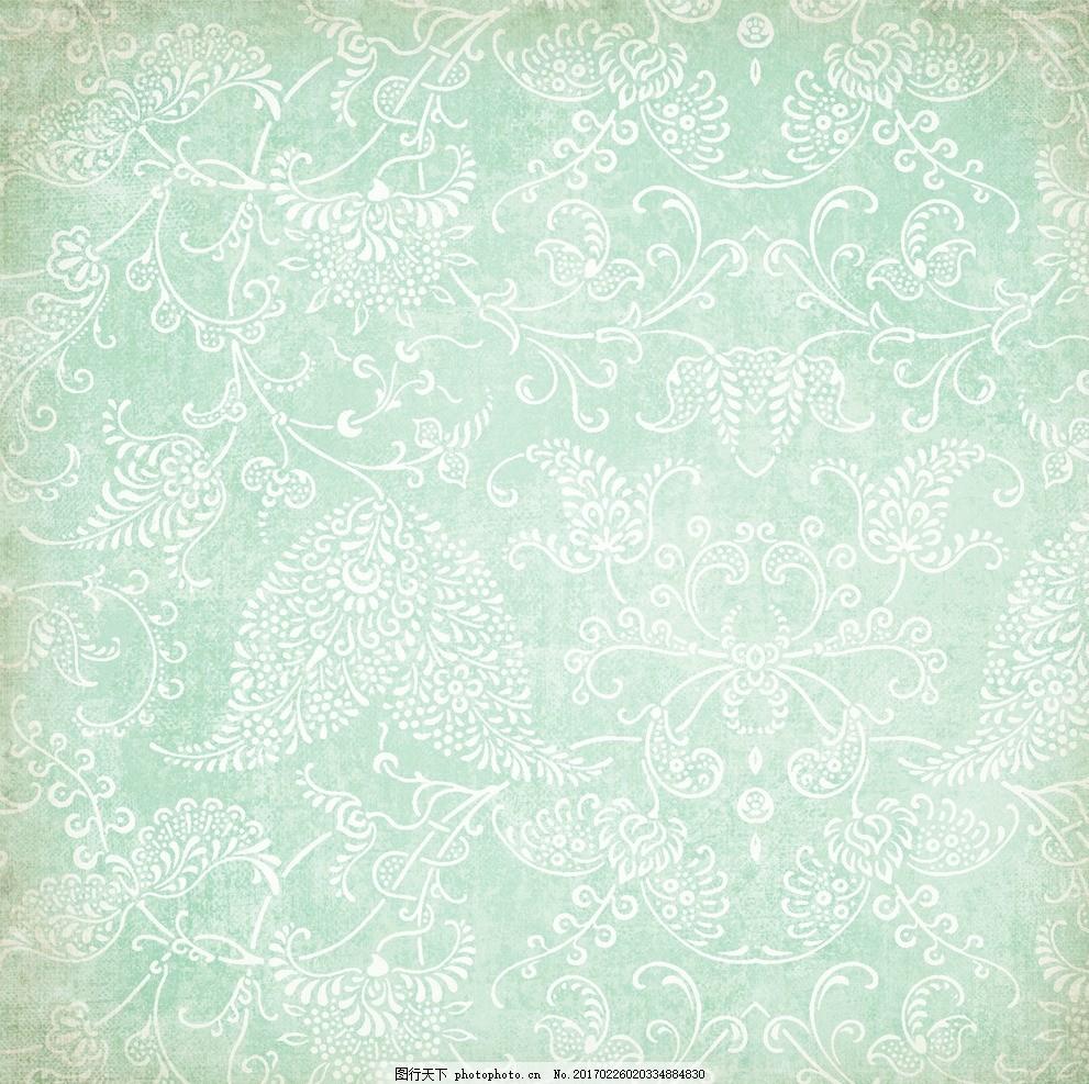 欧式华丽暗纹墙纸 复古 做旧 四方连续 底纹 花纹 藤蔓 缠绕