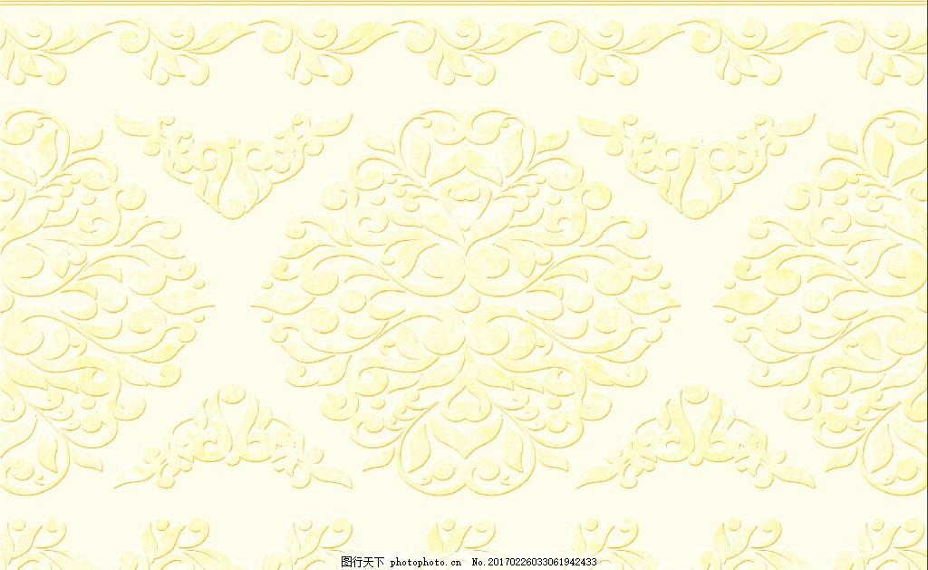 欧式花纹 精美花朵 欧式花朵 花边花纹 手绘花朵 墙贴 墙纸壁纸 客厅