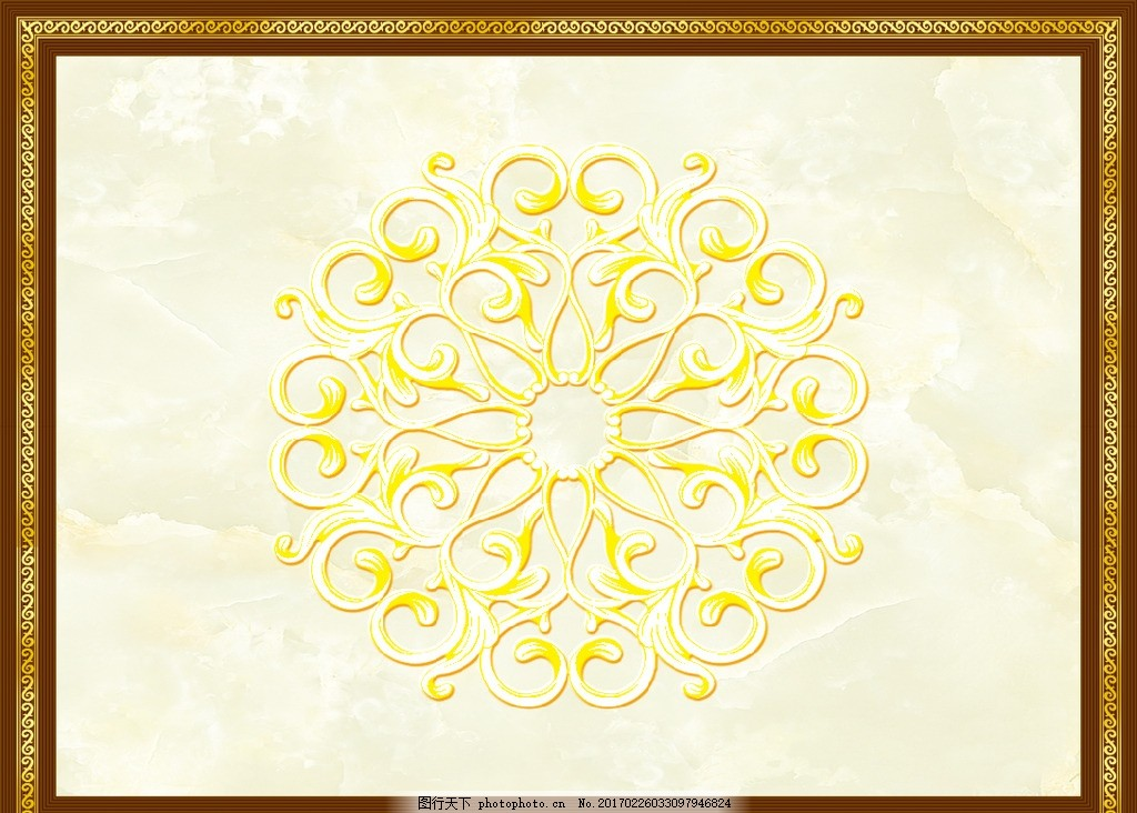 欧式边框天花吊顶背景墙 大理石纹 欧式花纹 欧式地毯 抛晶砖拼花图