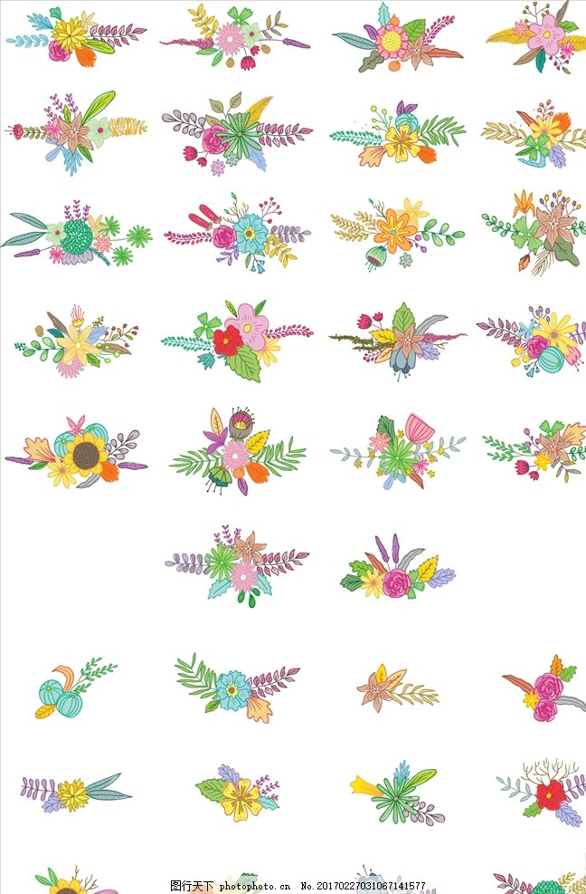 手绘捧花花艺造型