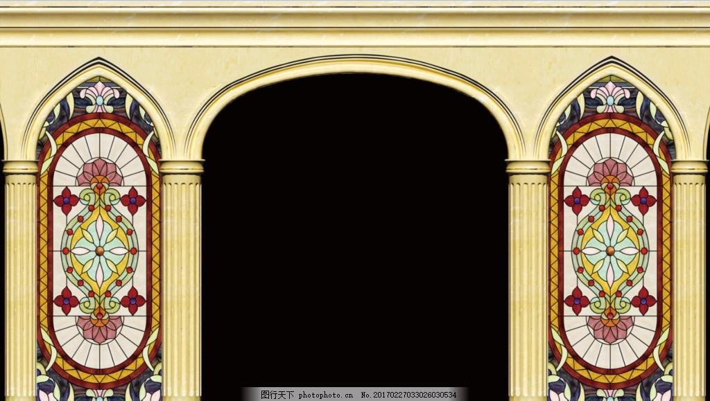 巴洛克婚礼 罗马柱 花纹设计 婚礼拱门 罗马柱拱门 罗马拱门 欧式拱门