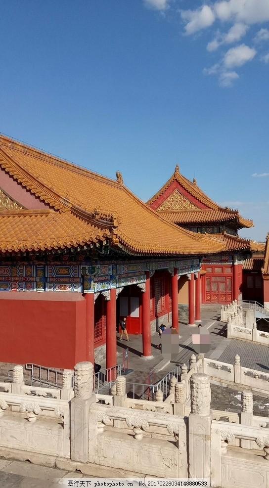 设计图库 自然景观 自然风景  故宫 北京 城墙 城堡 古城 屋檐 檐角