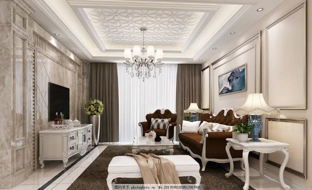 客厅 室内装修效果图 房间装修图 家具摆设 吊灯装饰 卧房装修图