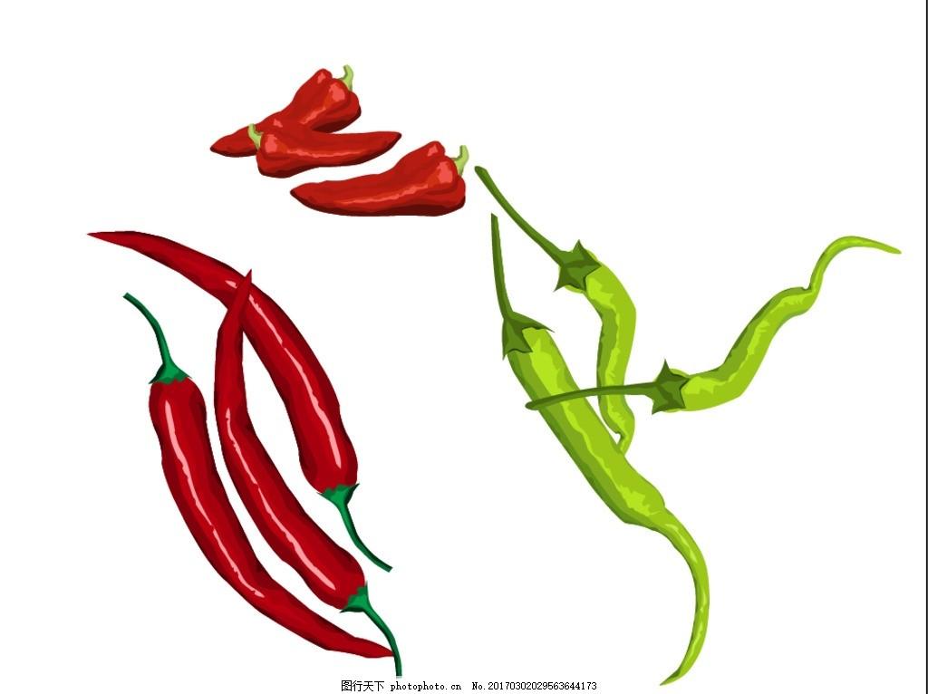 辣椒,矢量素材 卡通 抽象 卡通蔬菜 手绘蔬菜 卡通-图