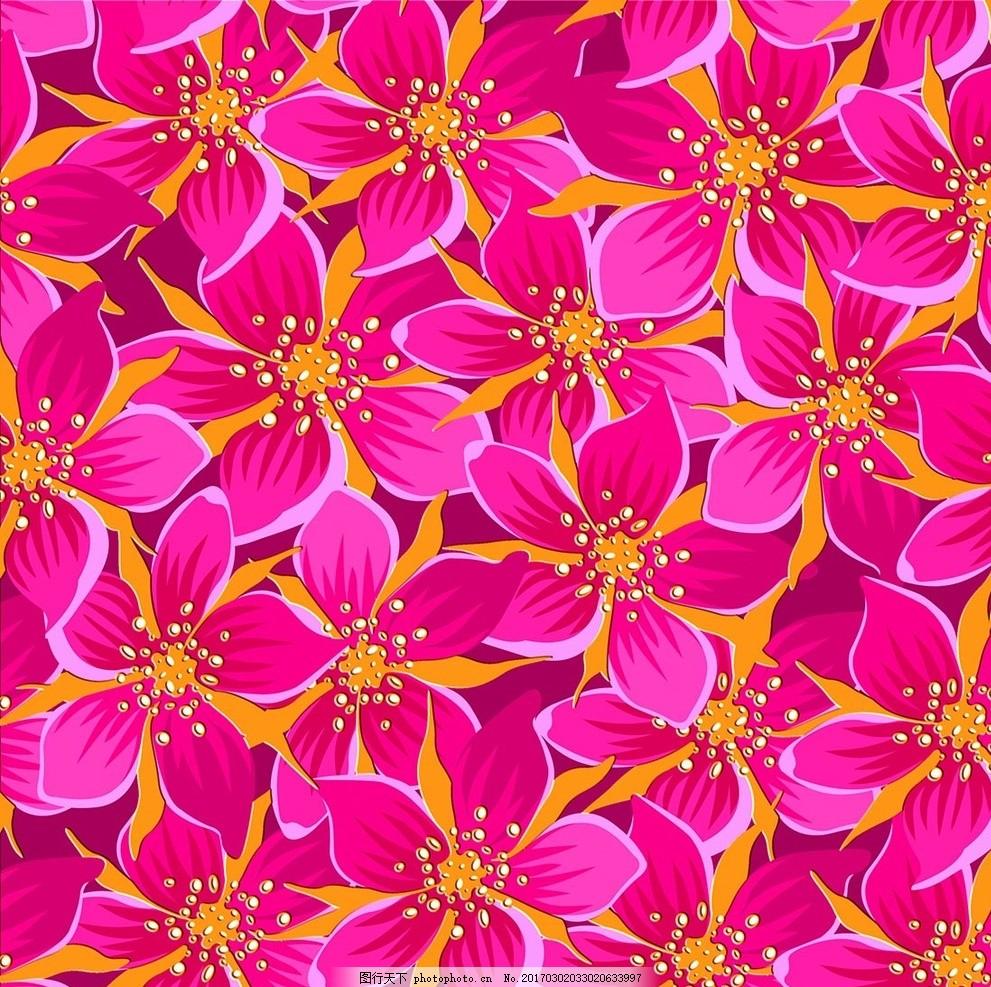 手绘花朵墙纸无缝拼接平铺壁画 大理石纹 欧式花纹 欧式地毯 抛晶砖