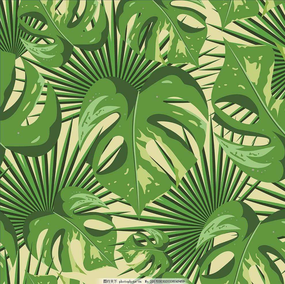热带雨林植物叶子 热带雨林植 植物叶子 叶子 叶子图案 植物背景 图案