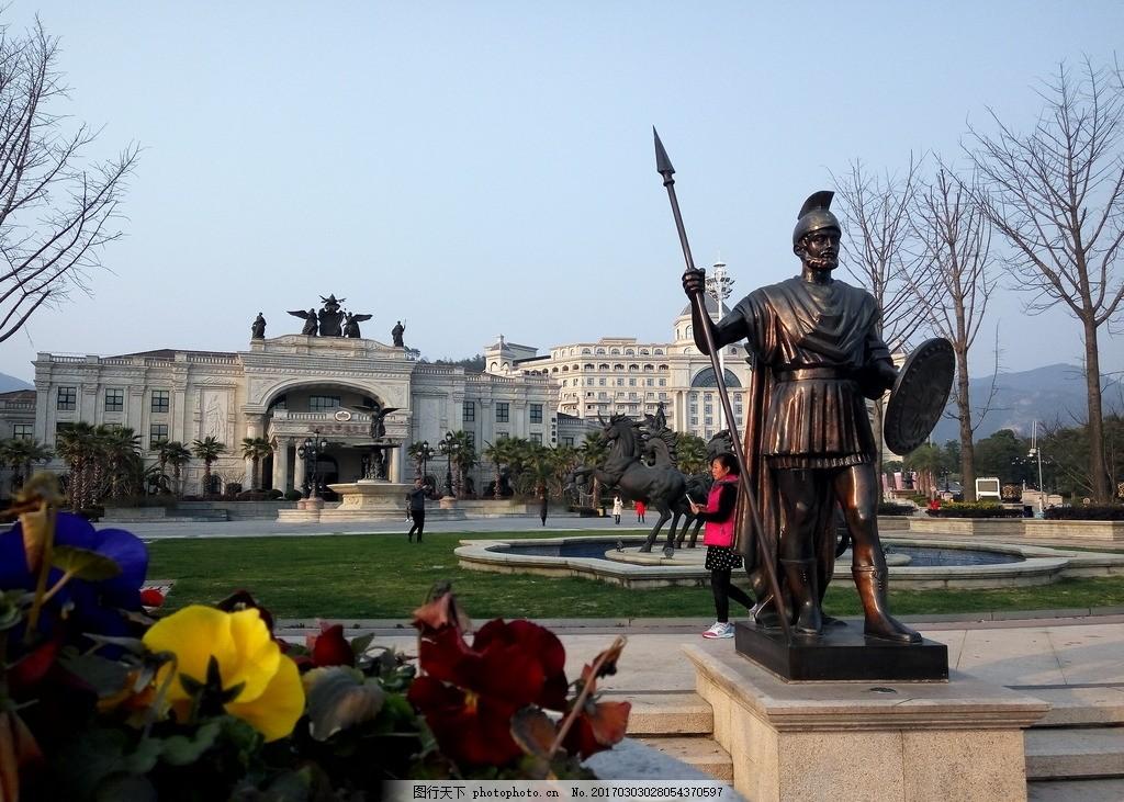 欧式建筑 武士 罗马 战争 雕像 摄影 建筑园林 建筑摄影