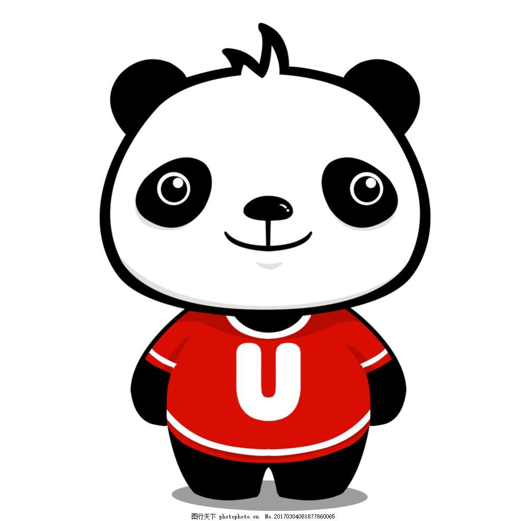 卡通熊猫 平面卡通 国宝图片
