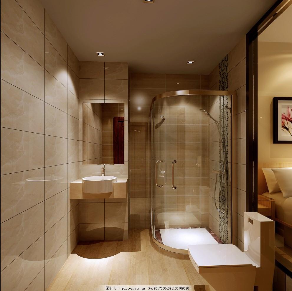 欧式主卧卫生间 欧式 主卧卫生间 简单 舒适 温馨 设计 3d设计 3d设计