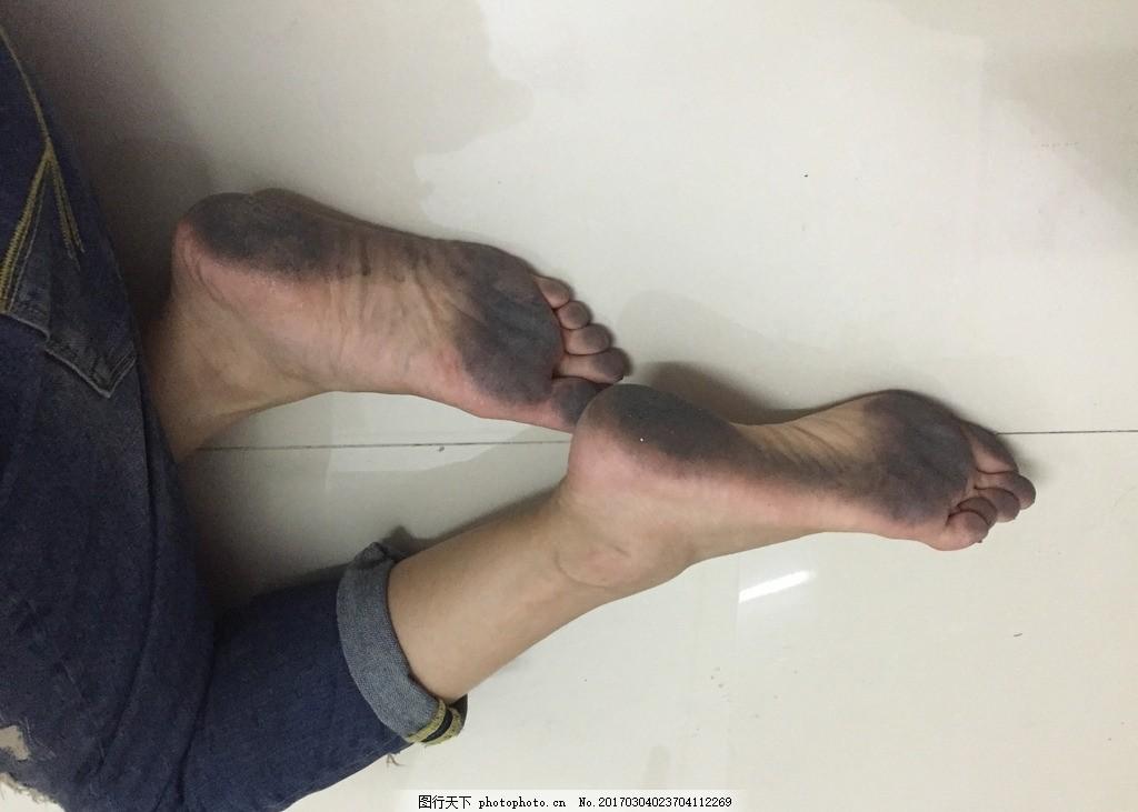 脚底的黑野性美女照片美女图片
