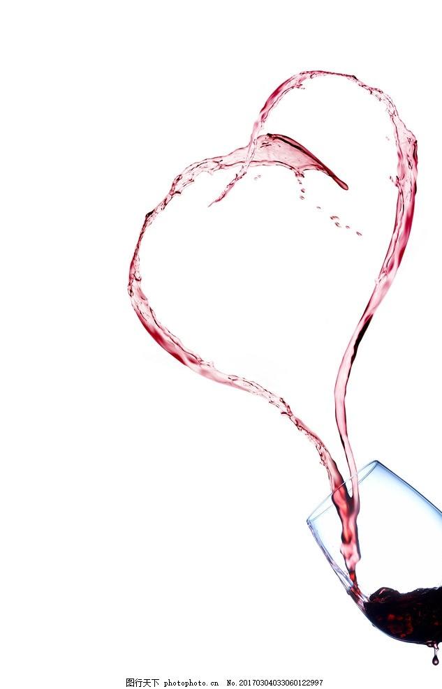 爱心 水纹 酒杯 红酒 浪漫 奇异 设计 psd分层素材 psd分层素材 300