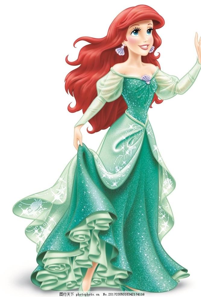 迪士尼爱丽儿公主 迪士尼 爱丽儿公主 公主 卡通公主 小美人鱼 迪士尼