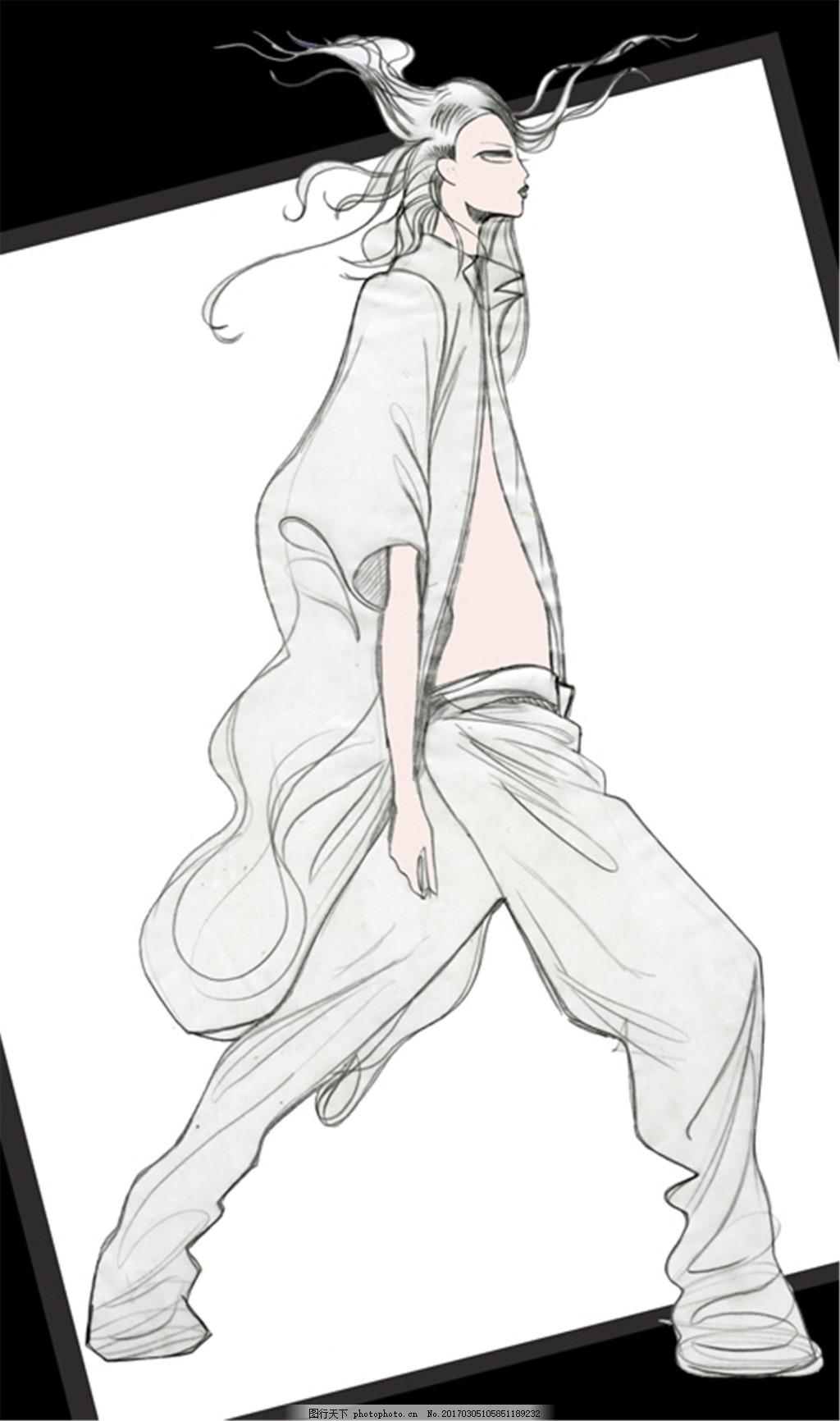 时尚女装设计手绘图