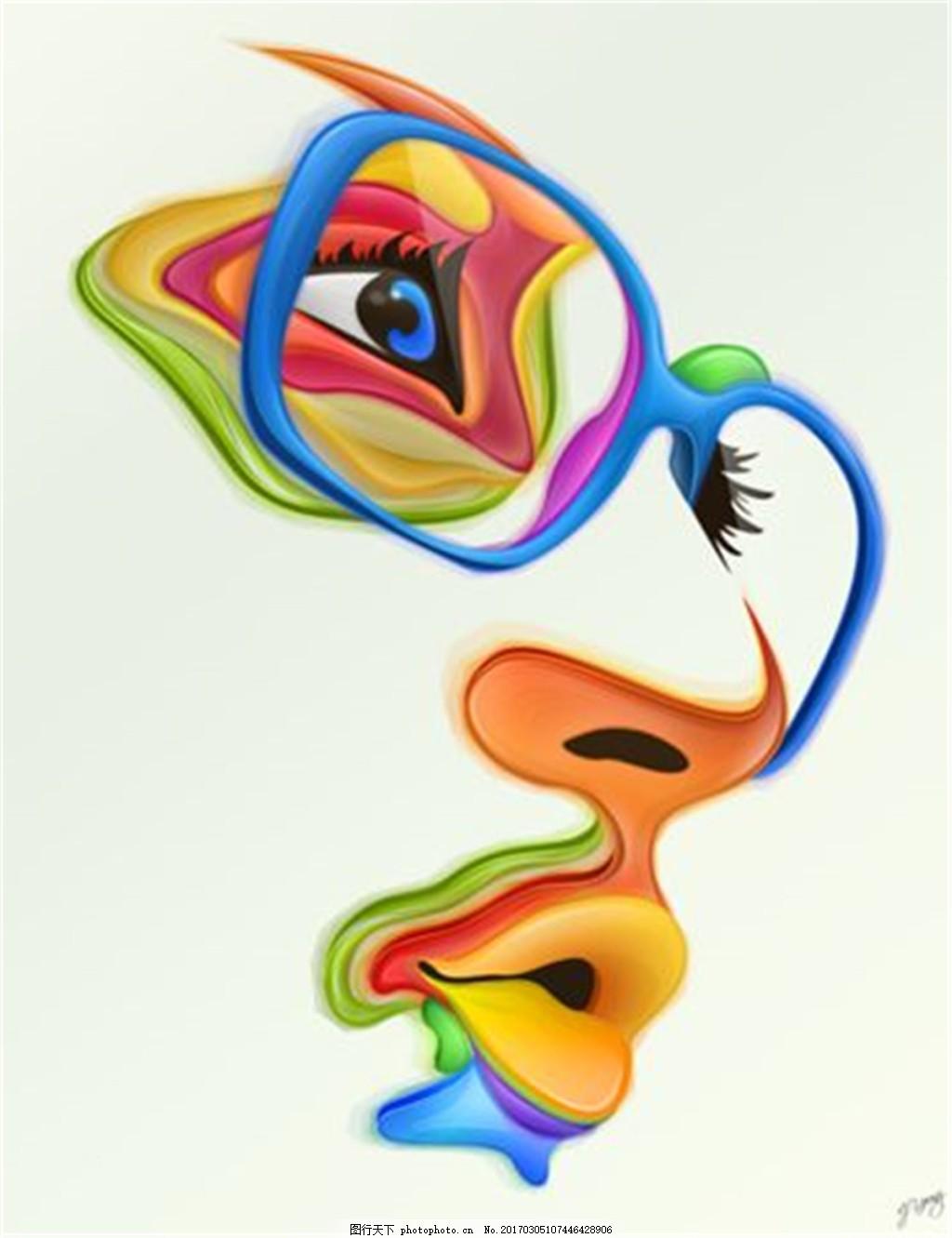 彩妆眼镜图片