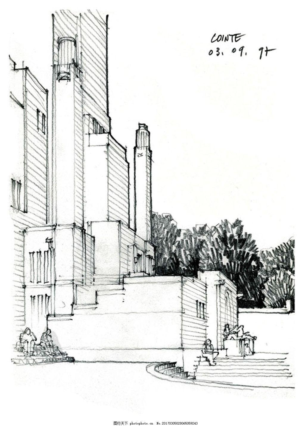 欧式现代建筑 建筑平面图素材免费下载 手绘图 图纸 城堡 建筑施工图