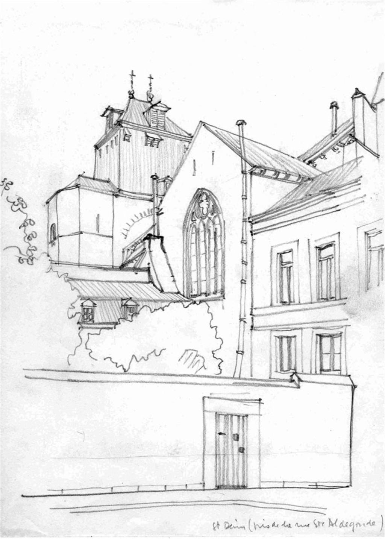 欧式建筑手绘效果图