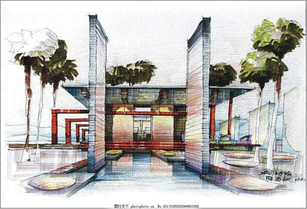 创意建筑效果图 建筑效果图图片下载 手绘图 平面图 城堡 建筑施工图