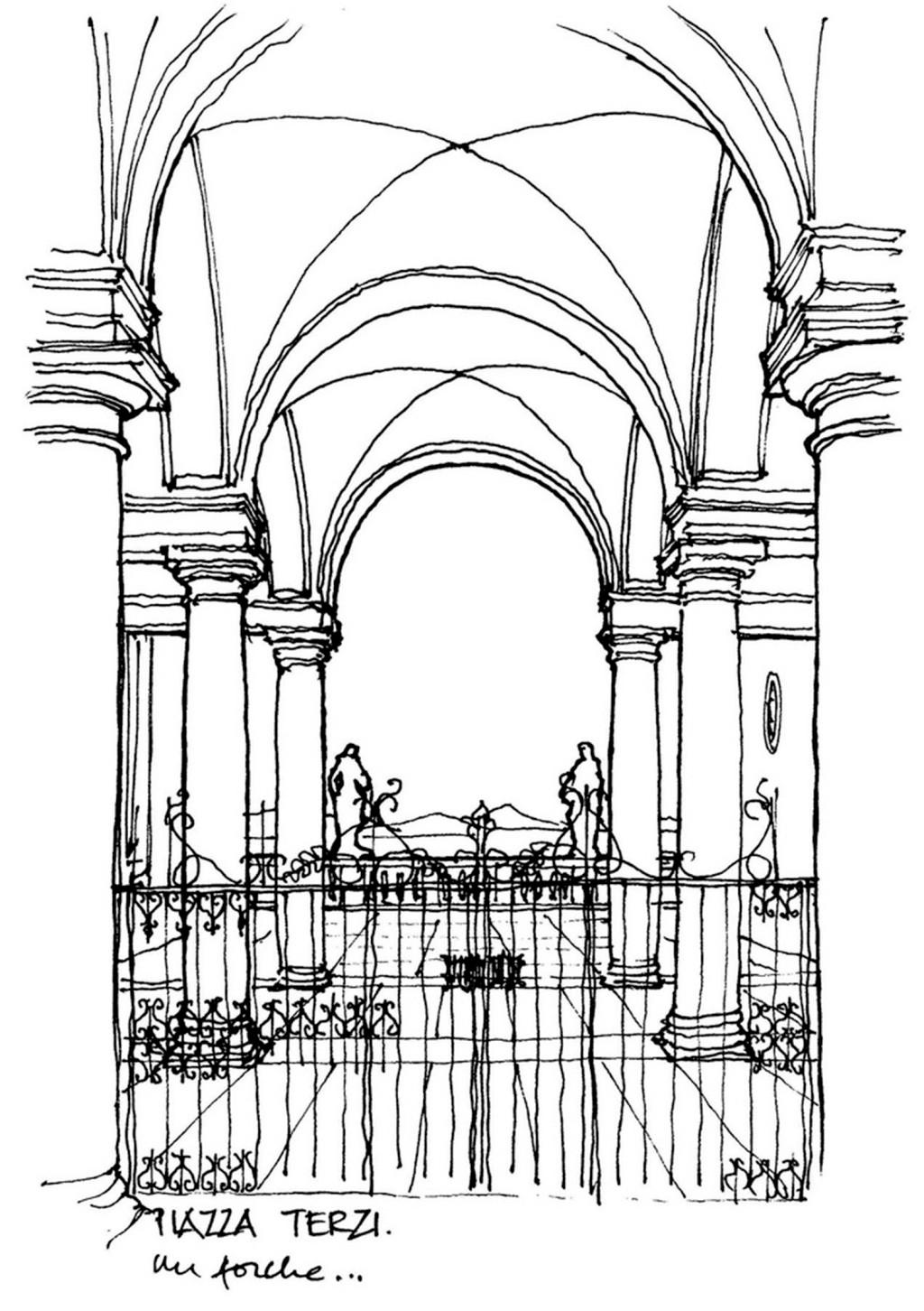 欧式拱形建筑效果图