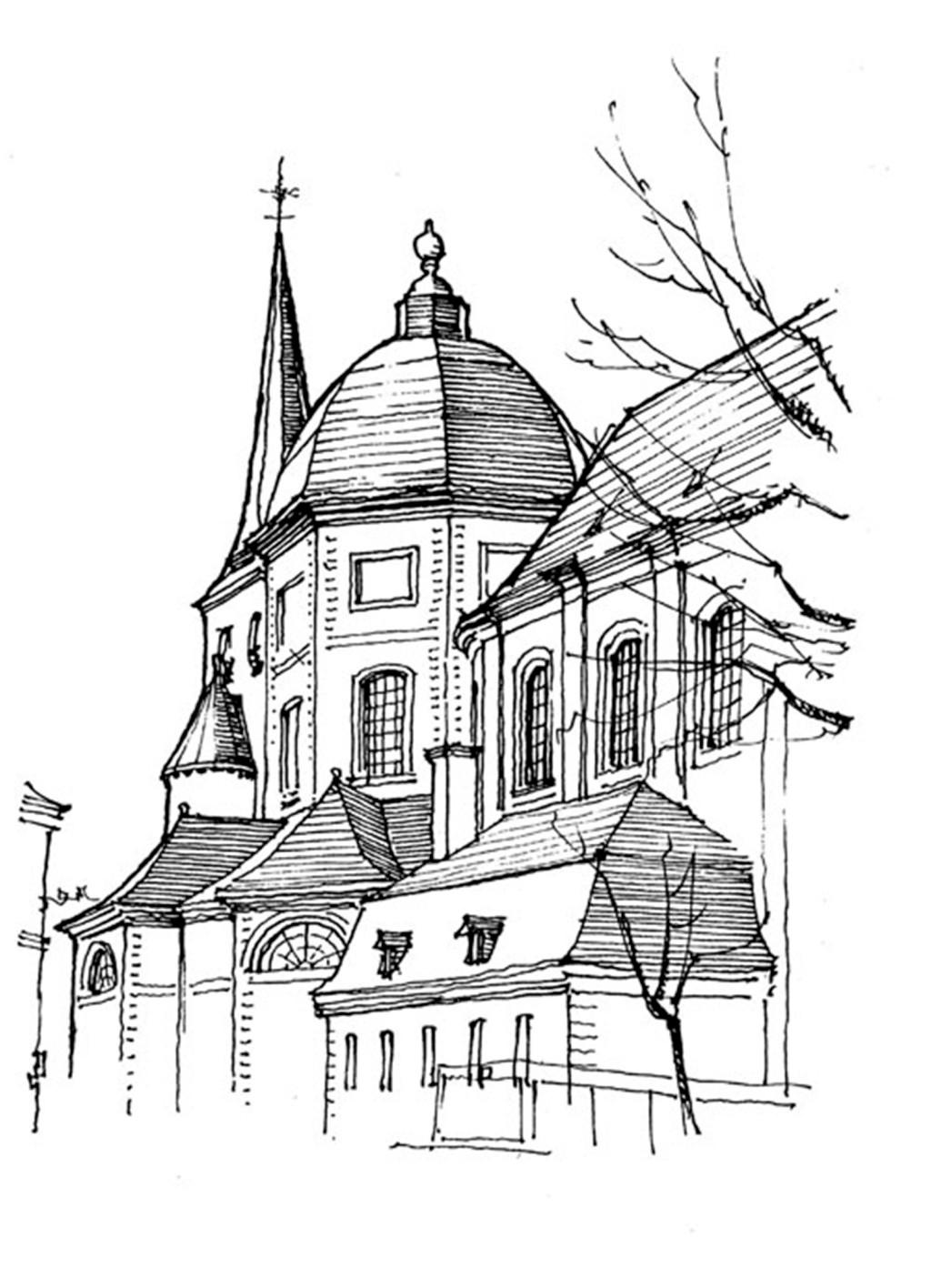 欧式建筑设计效果图 建筑效果图素材免费下载 手绘图 图纸 建筑 平面