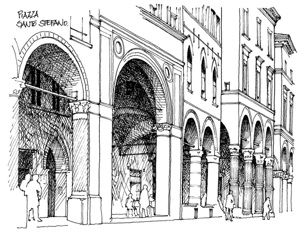 歐式沿街商鋪效果圖 建筑效果圖素材免費下載 手繪圖 圖紙 平面圖