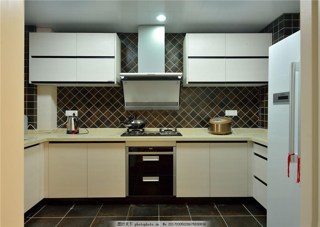 现代厨房装修效果图 室内设计 家装效果图 欧式装修效果图 时尚