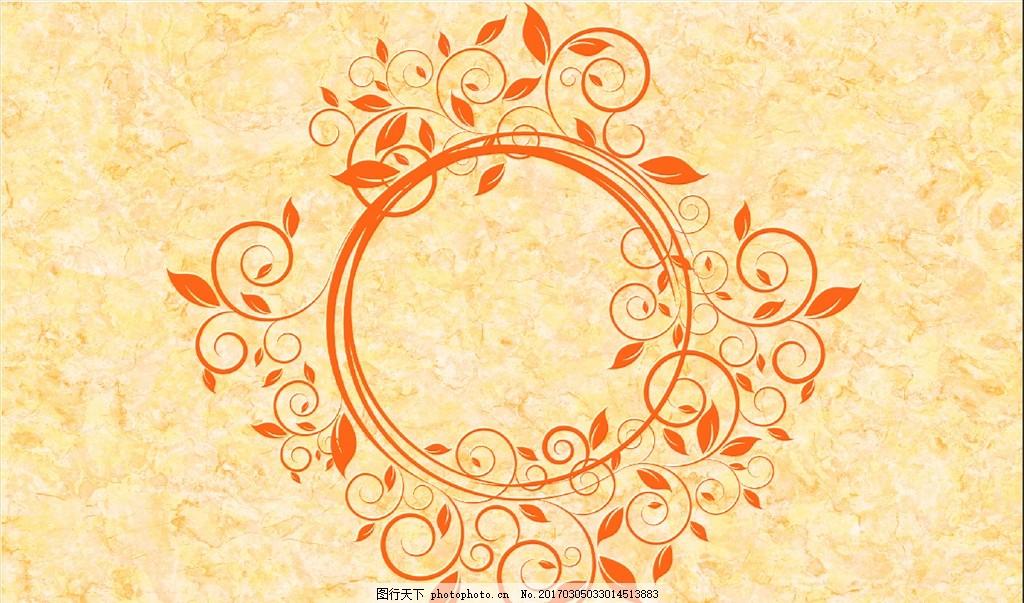大理石纹欧式花纹 精美花朵 欧式花朵 花边花纹 手绘花朵 电视背景墙