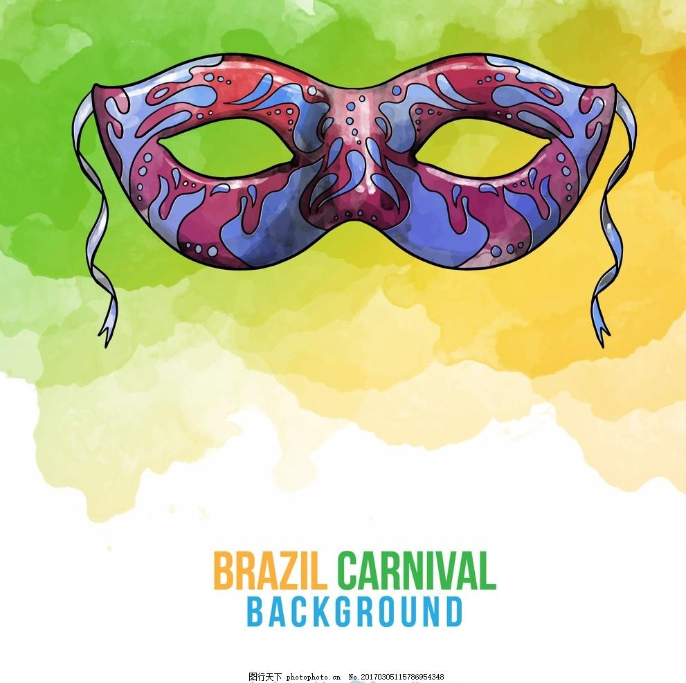 手绘面具 绘制 嘉年华 庆祝活动 艺术节 狂欢节 假日 巴西 娱乐