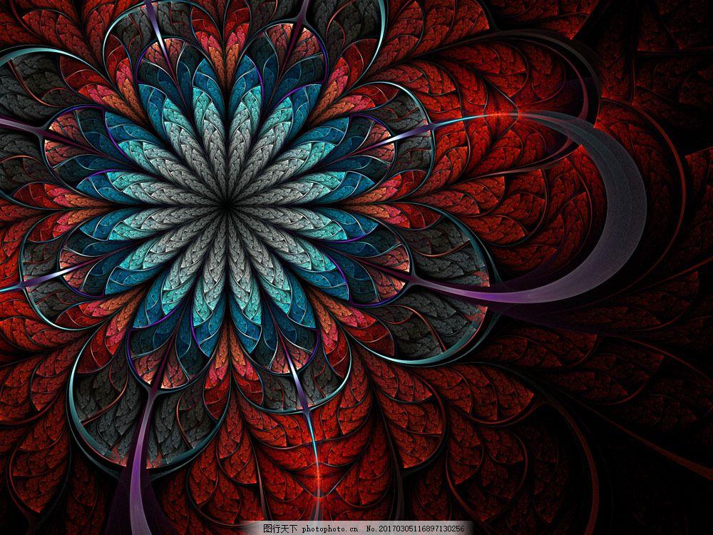 复古风格 古典 传统 背景 欧式 怀旧 梦幻 彩色 黑暗花朵 花纹 底纹