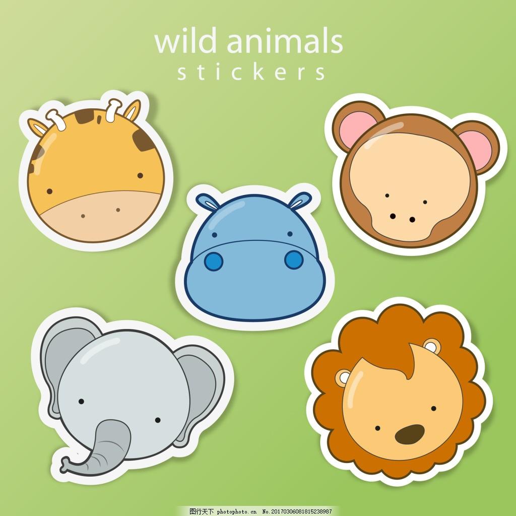 可爱动物头像 可爱 卡通 动物