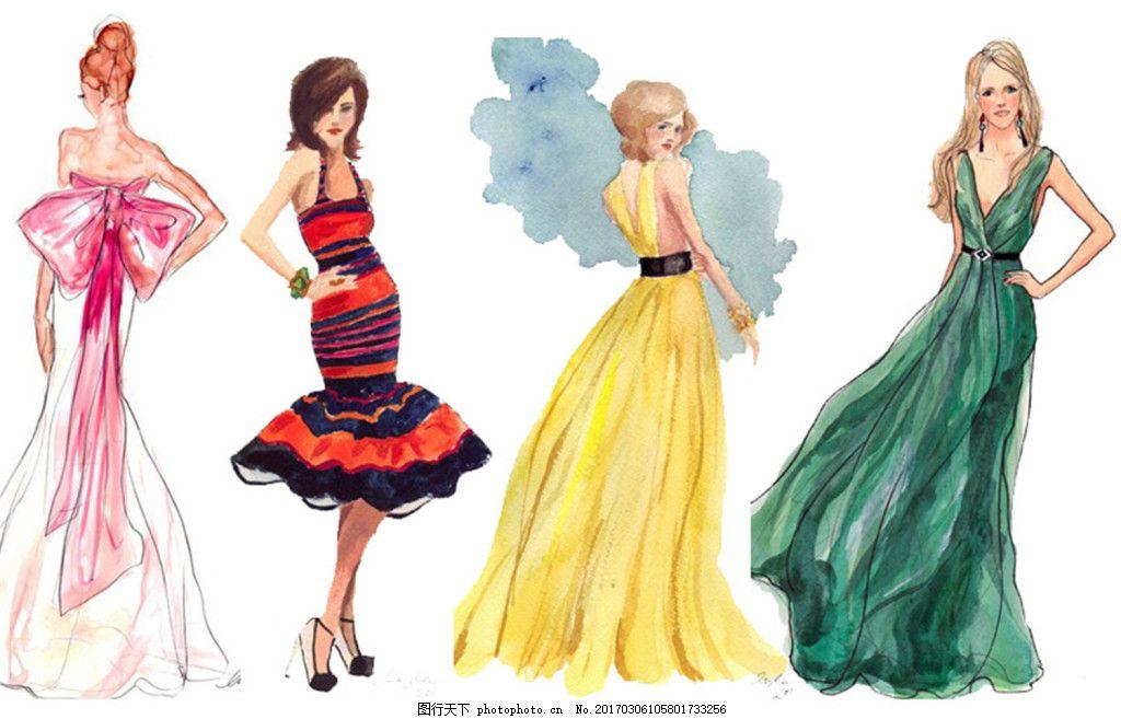 4款露背礼服设计图