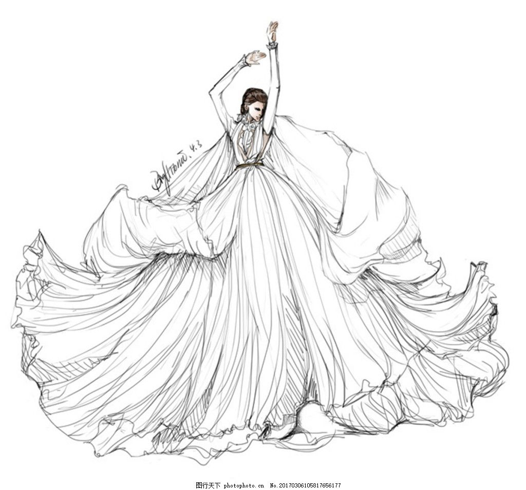 设计图库 现代科技 服装设计  白色百褶裙 服装设计 时尚女装 职业