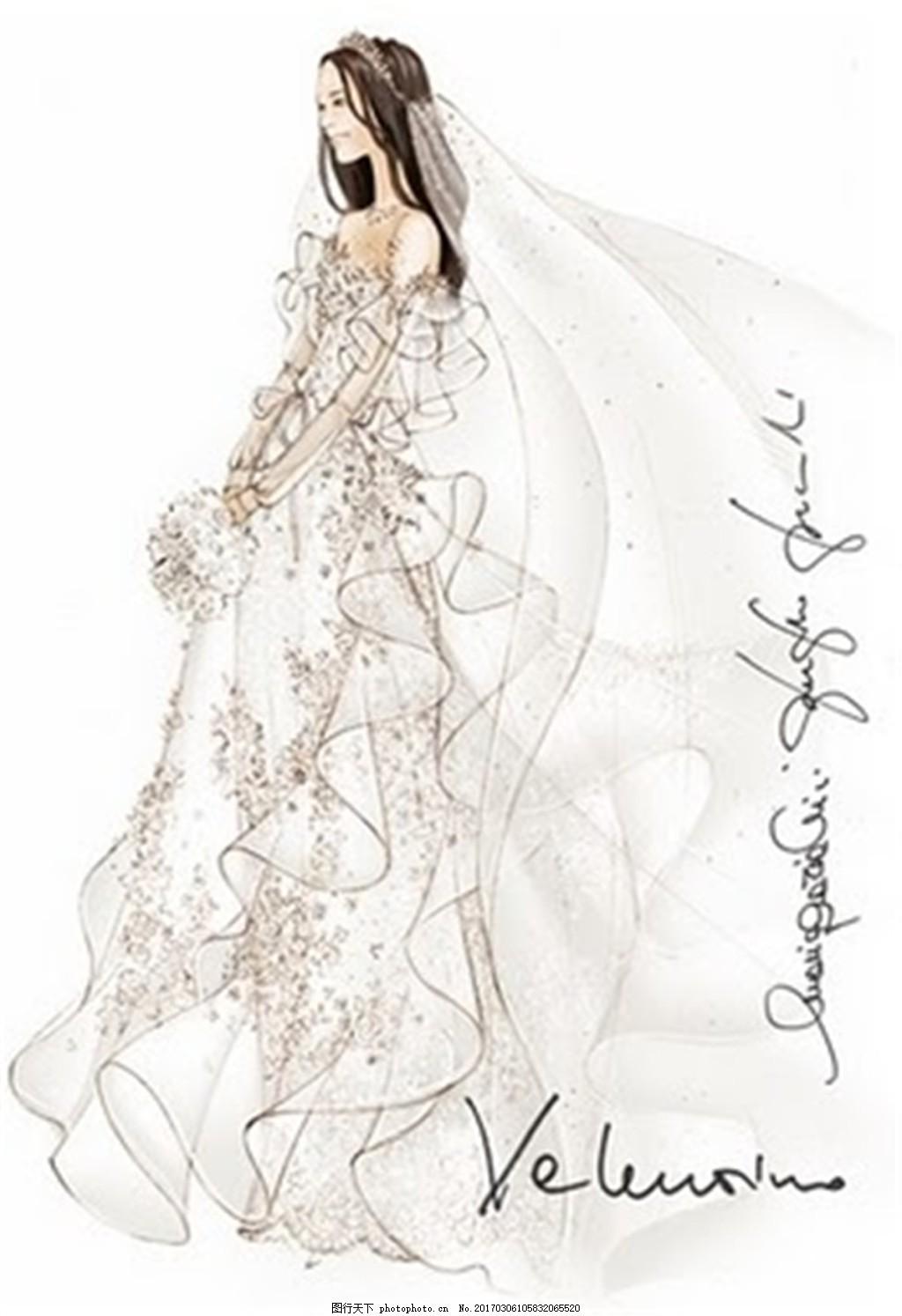设计图库 现代科技 服装设计  唯美婚纱设计图 服装设计 时尚女装