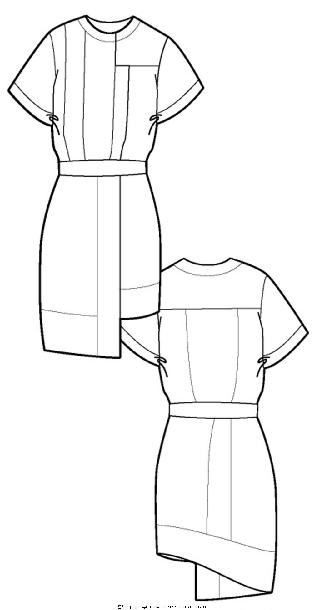 腰带连衣裙设计图