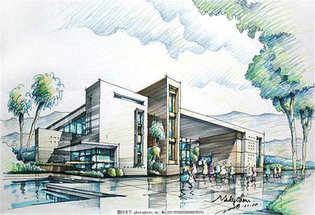 酒店建筑效果图 建筑效果图图片下载 手绘图 平面图 城堡 建筑施工图