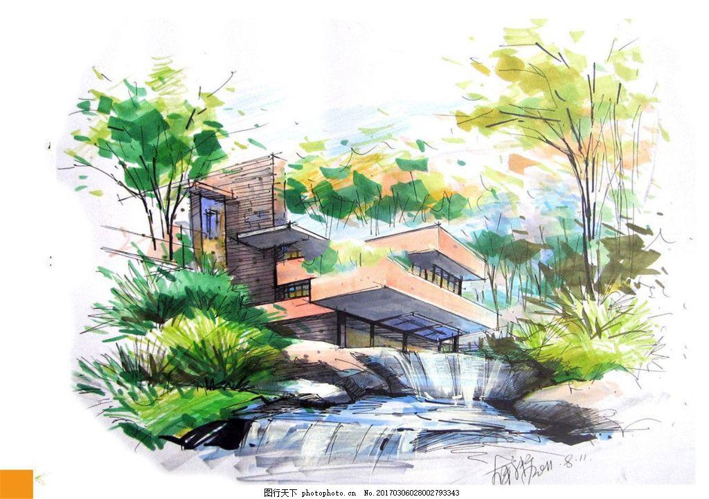 高档建筑效果图 建筑平面图素材免费下载 手绘图 图纸 城堡 建筑施工