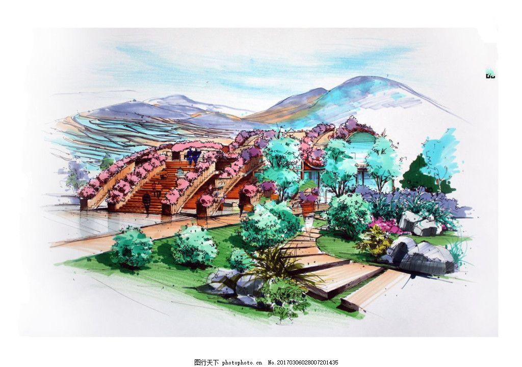 彩色建筑效果图 建筑平面图素材免费下载 手绘图 图纸 城堡 建筑施工