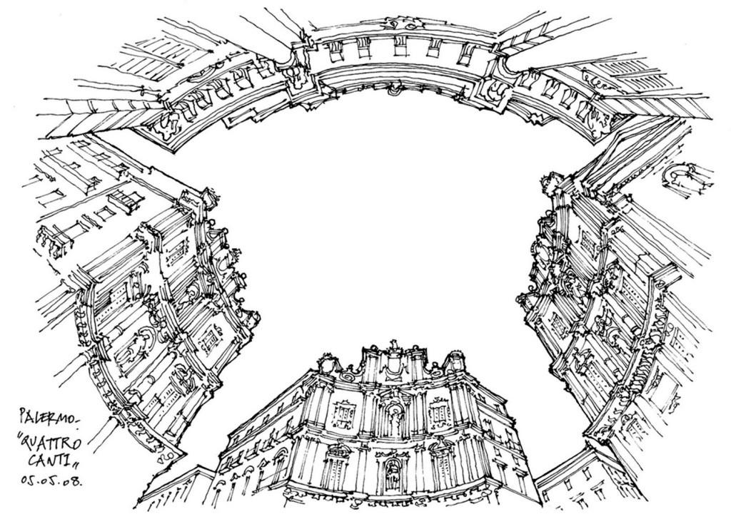 欧式建筑圆环效果图