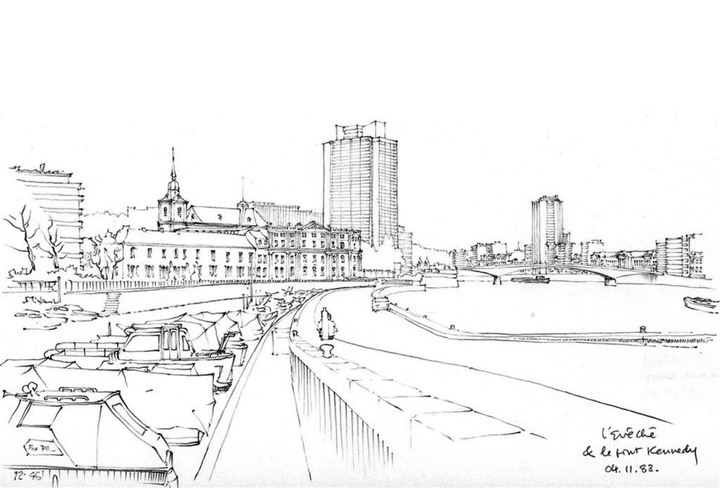 广场欧式建筑效果图