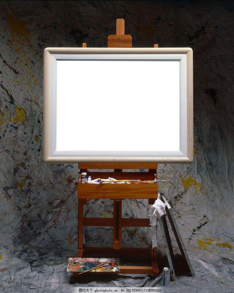 画板画框 画板画框图片素材 画画 美术 写生 油画 调色板 画笔