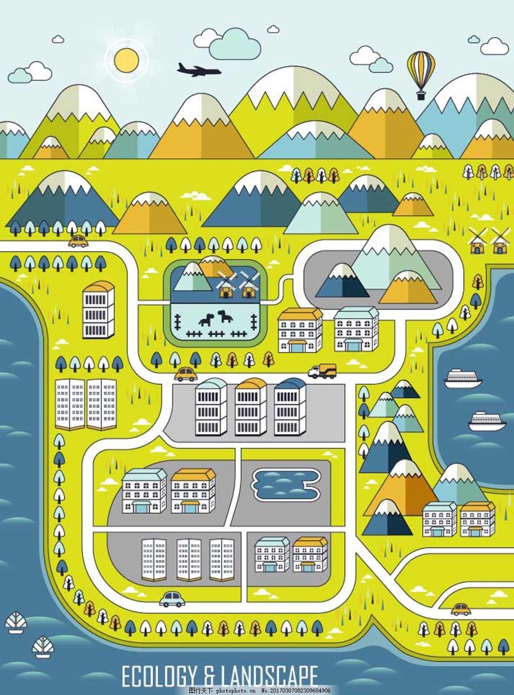 卡通城市地图