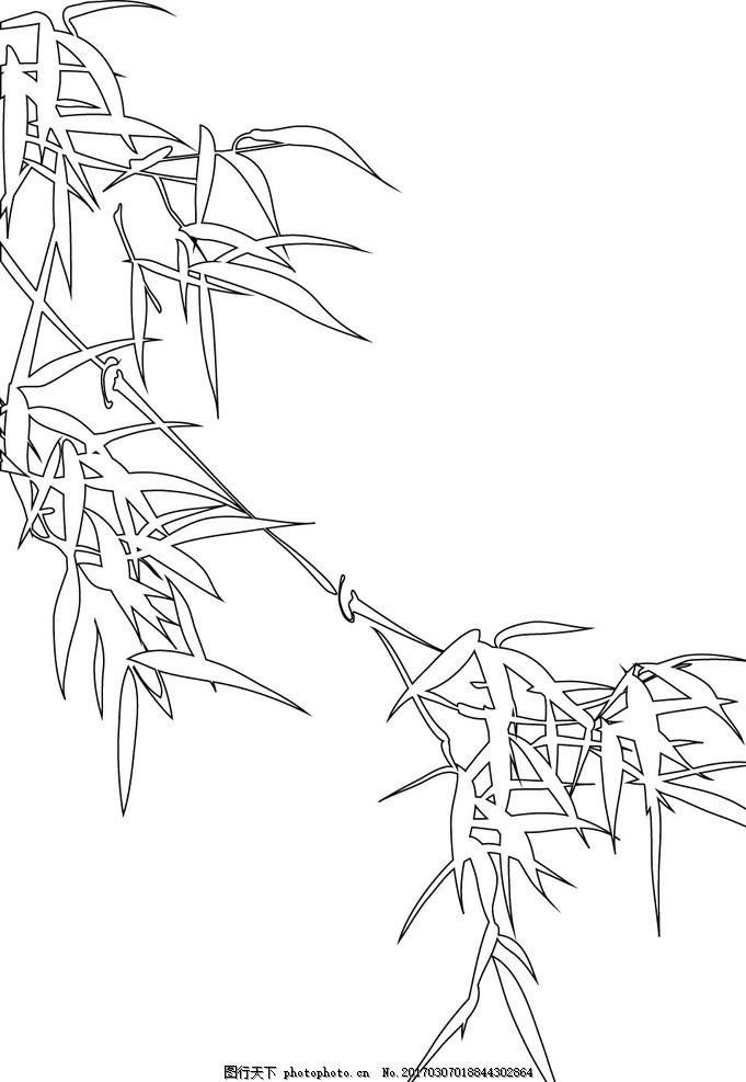 竹子 中国风 竹子矢量图 手绘竹子 竹子手绘图 竹子装饰 中国竹 竹子