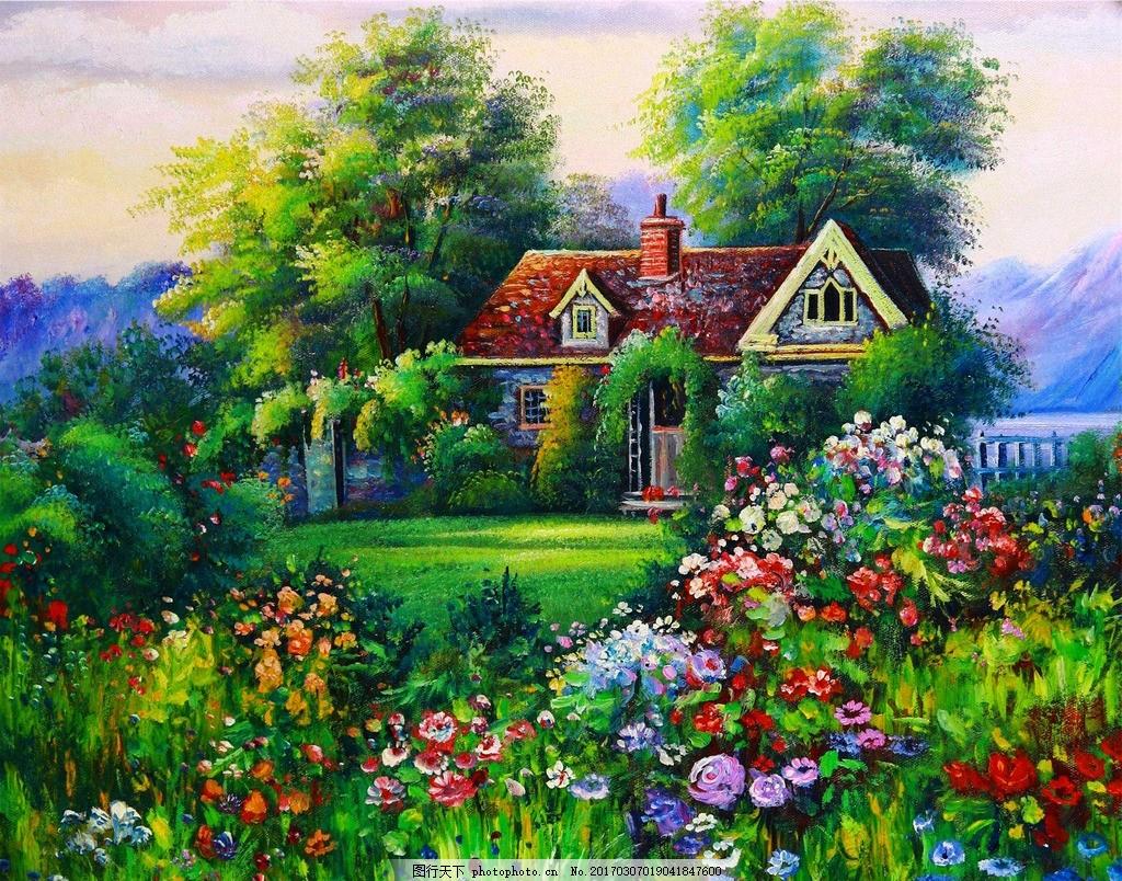 油画风景 风景画 风景油画 自然风景油画 西方油画 油画作品 美丽油画