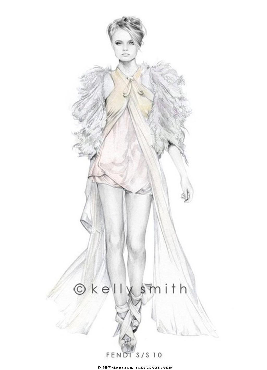 长裙设计图 服装设计 时尚女装 职业女装 职业装 女装设计效果图 jpg