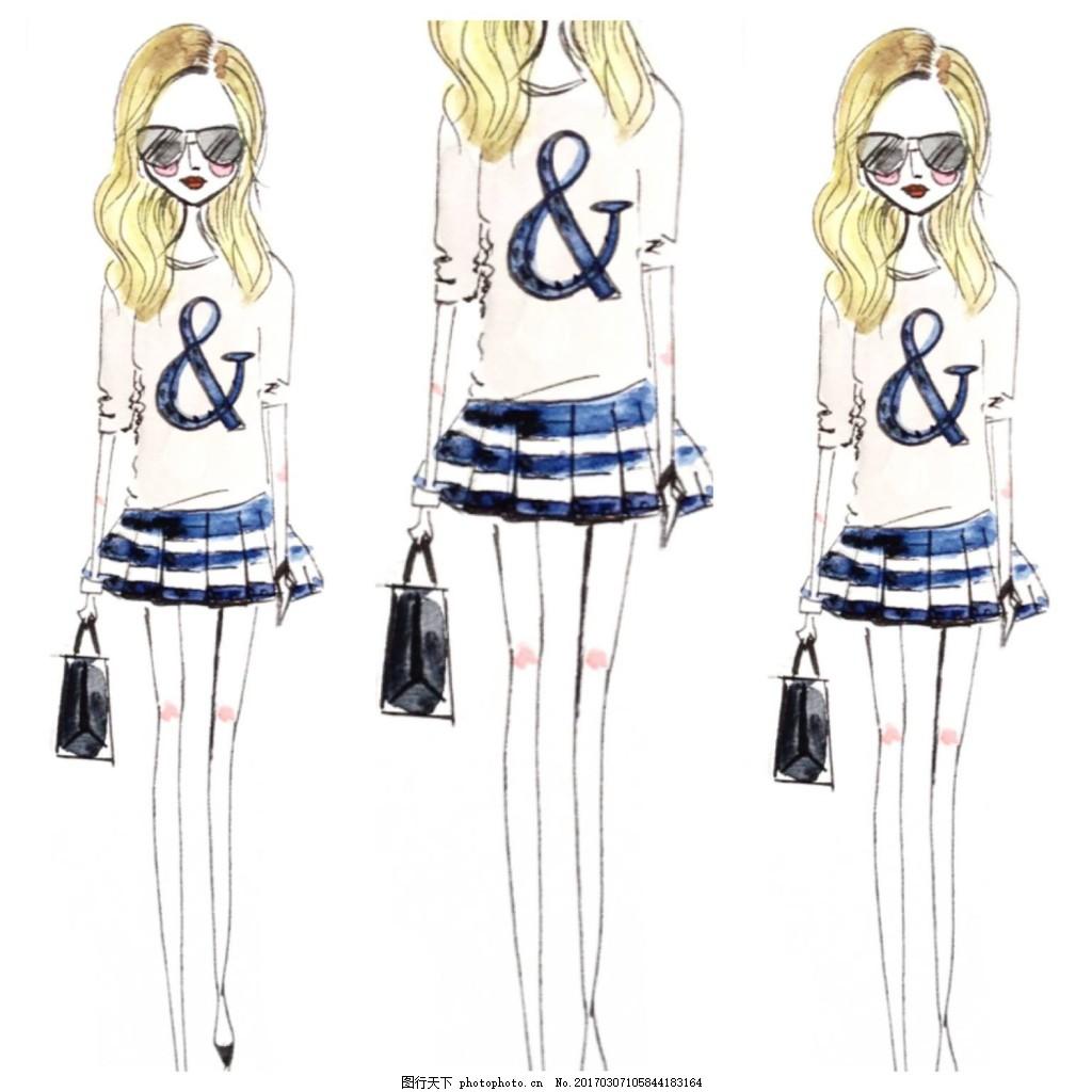 学生裙装设计图 服装设计 时尚女装 职业女装 职业装 女装设计效果图