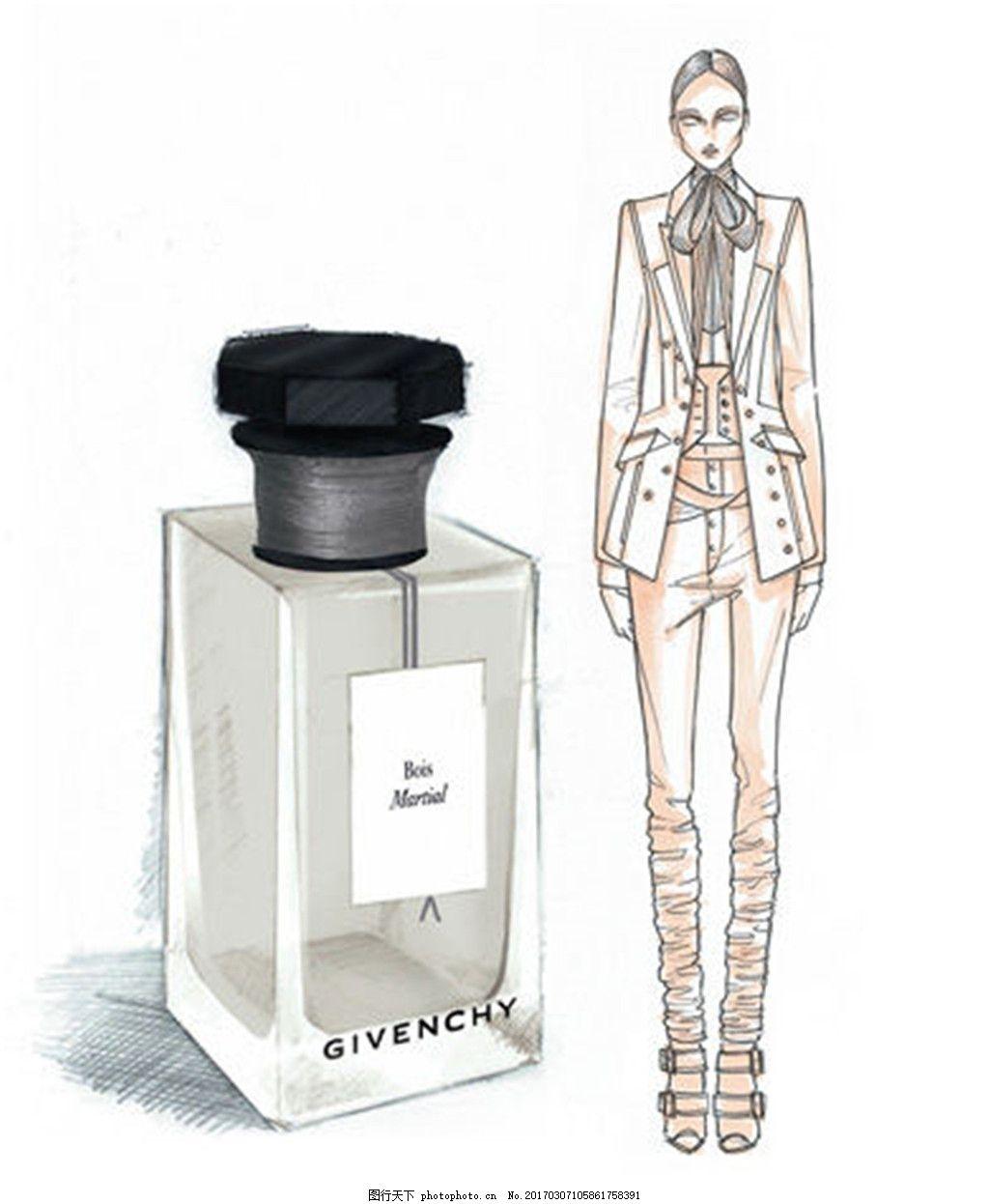 时尚女装及香水设计图