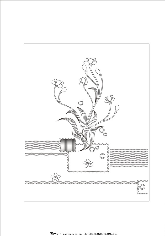 艺术玻璃 玻璃艺术 工艺玻璃 玻璃工艺 矢量 矢量图 线图 CDR 室内设计 建筑家居 雕刻 深雕 彩雕 背景 电视背景 背景墙 沙发背景 屏风 隔断 环境设计 设计 移门 欧式 欧式图案 欧式底纹 兰 兰花 设计 环境设计 室内设计 CDR