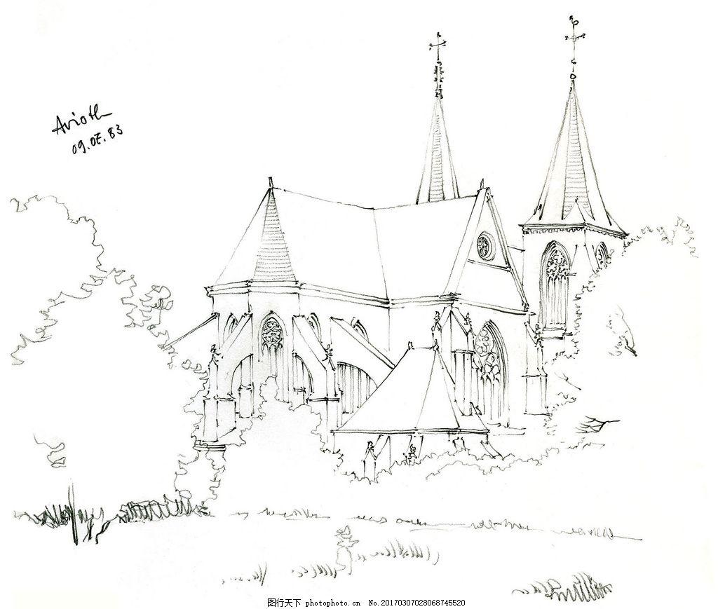 欧式手绘效果图 建筑平面图素材免费下载 手绘图 图纸 城堡 建筑施工