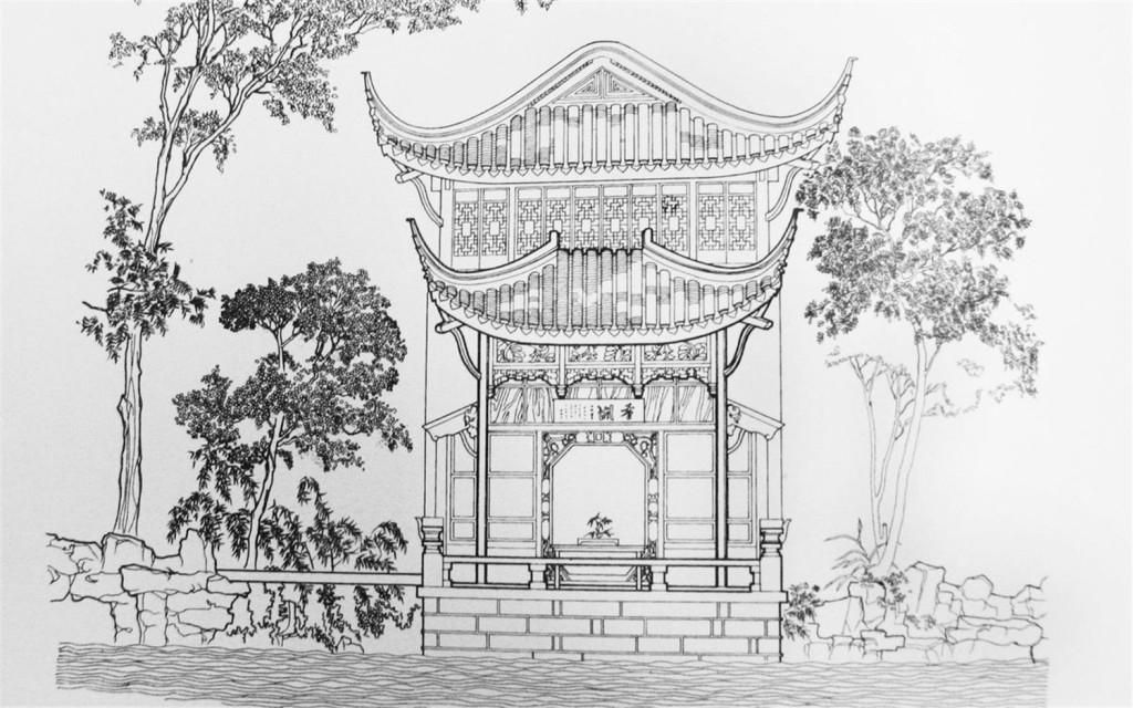 城堡 建筑施工图 建筑平面图 欧式建筑 建筑效果图 手绘施工图 亭子